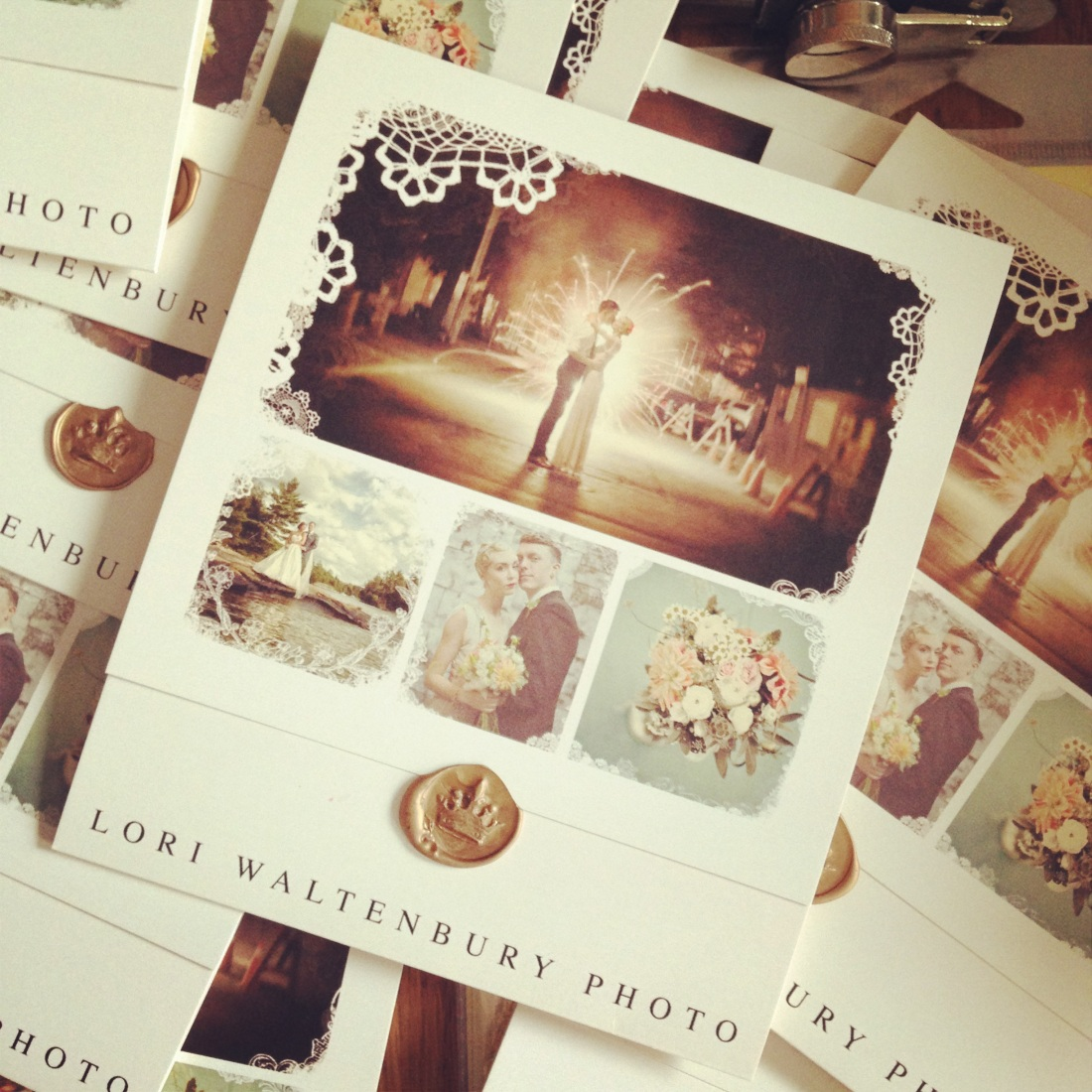 beautiful photographer pamphlets and wedding invitations