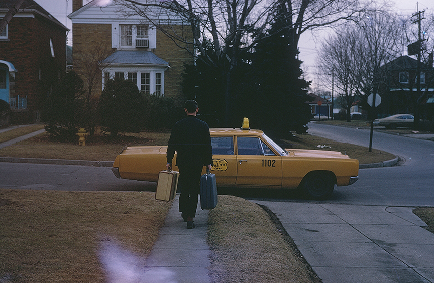 man in the 1960 with taxi